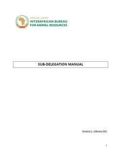 Subdelegation Manual