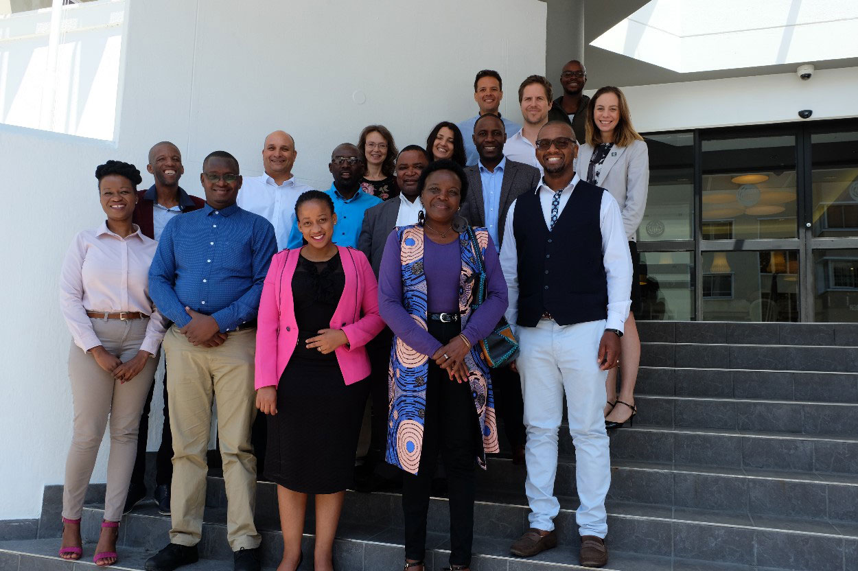 © 2019 AU-IBAR. Above picture: Dr Annie Lewa, front far right, represented AU-IBAR at the First Southern African Regional Animal Welfare Summit: Focus on Poultry, held on 5th November, 2019.