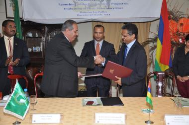 © 2014 AU-IBAR. Signing of the Pilot Activity Project.